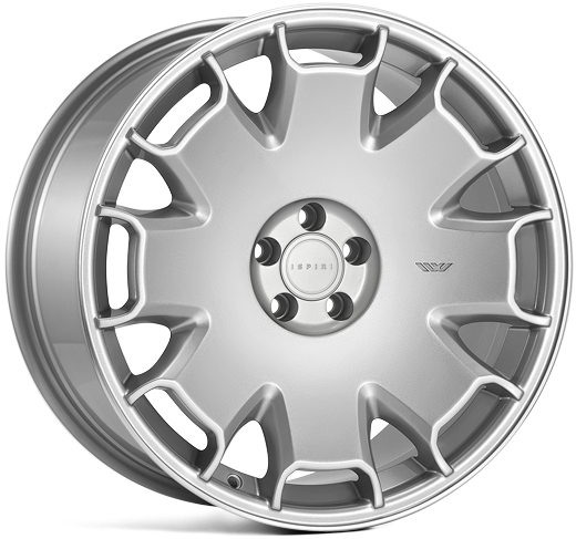 ISPIRI CSR2 hliníkové disky 8,5x18 5x100 ET35 Silver Polished Lip