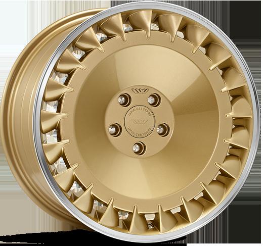 ISPIRI CSRD-TF hliníkové disky 8,5x19 5x112 ET42 Vintage Gold Polished Lip